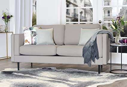 Elle Decor Simone Sofa - French Light Gray