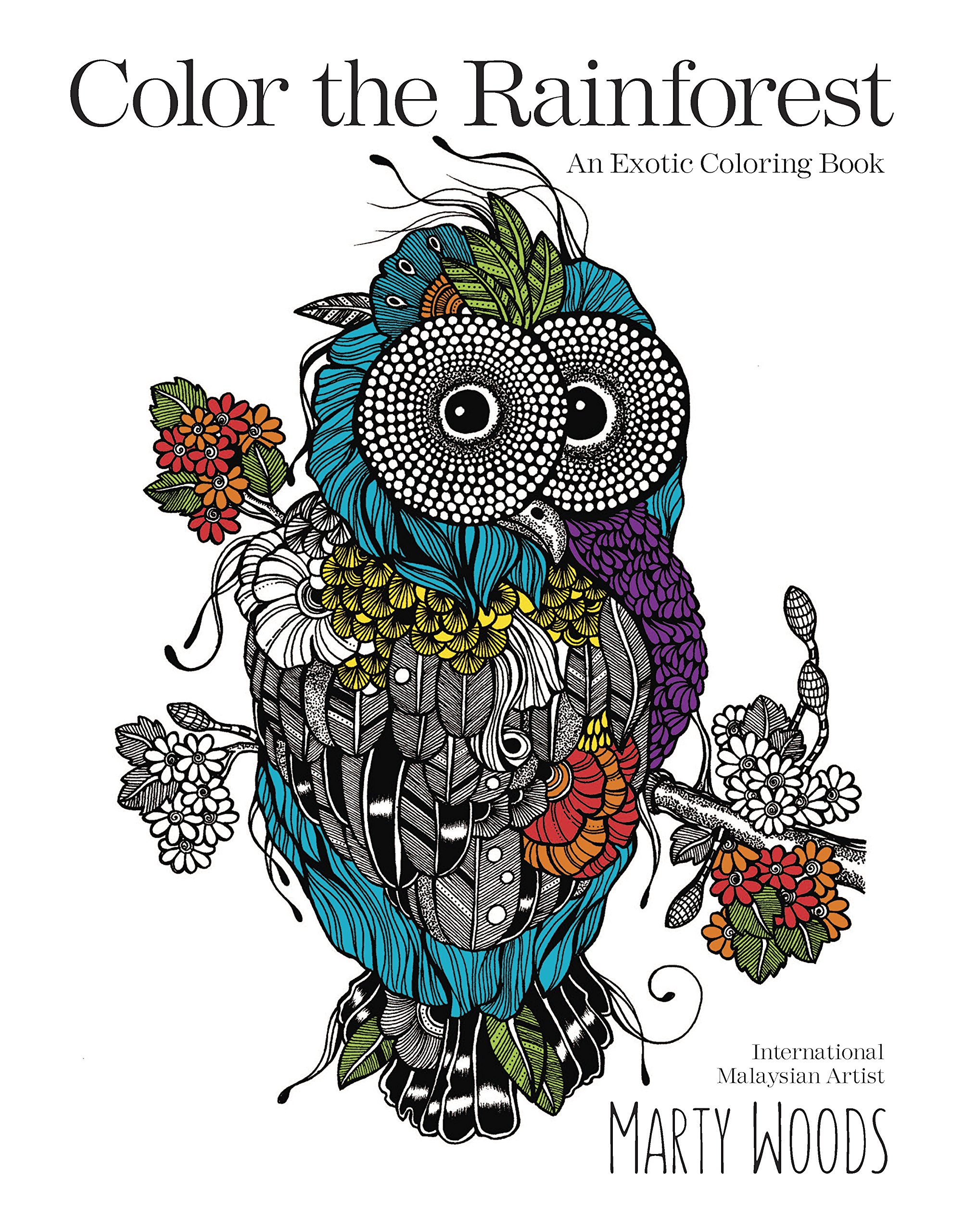 color the rainforest an exotic coloring book marty woods