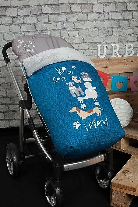 Babyline Dogs - Saco de silla de paseo, color azul