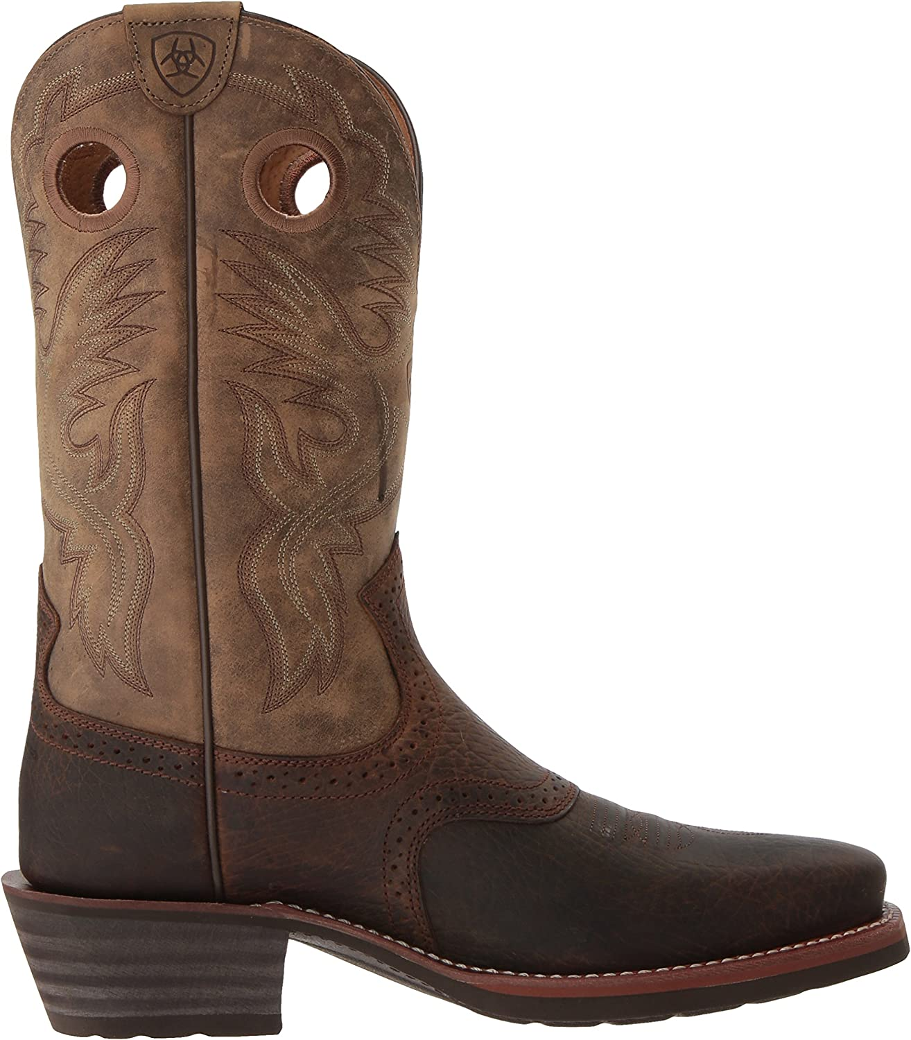 ARIAT Mens Heritage Roughstock Square-Toe Western Boot
