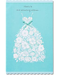 american greetings amazing woman bridal shower card with ribbon