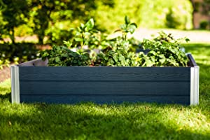Vita Gardens VT17600 Urbana 4x4x11 Modular Slate Grey Garden Bed