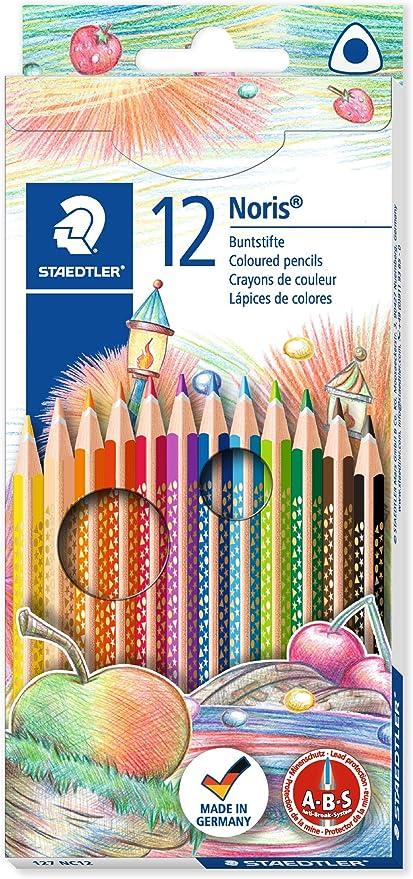 Staedler 127NC12 - Caja con 12 lápices de triangulares, multicolor: Amazon.es: Oficina y papelería