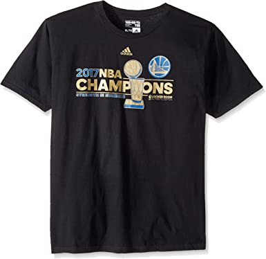 adidas Golden State Warriors 2017 NBA Finals Champions Oficial Locker Room Camiseta Negra - WARRMENS, XXL, Negro: Amazon.es: Deportes y aire libre