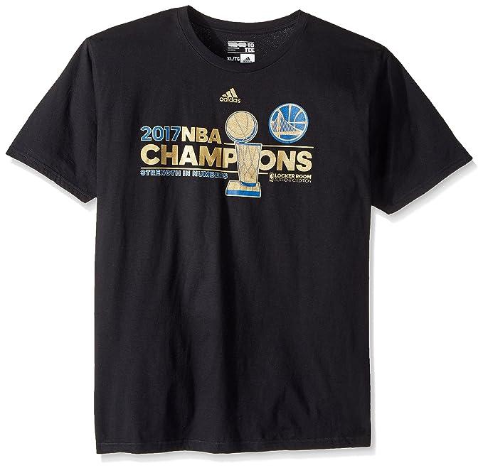 Camiseta conmemorativa de los Golden State Warriors Campeones de la NBA 2017 - WARRMENS, camisa, S, Negro: Amazon.es: Deportes y aire libre