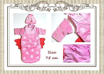 Luxus – Saco de dormir para bebé para pequeñas princesas en color rosa con pequeñas fluegeln