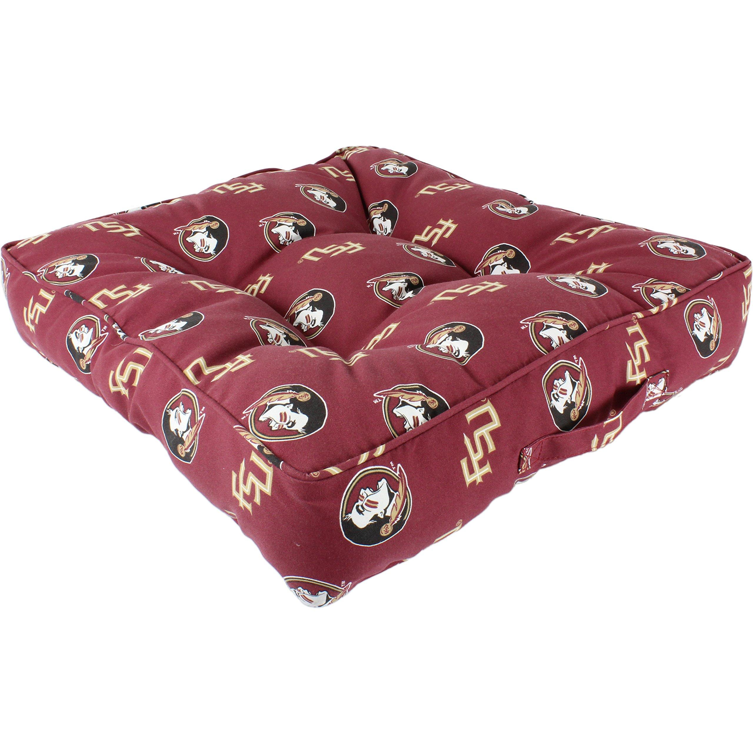 College Covers Florida State Seminoles Floor Pillow/Pet Bed, 24'' x 24'', Multi/Color