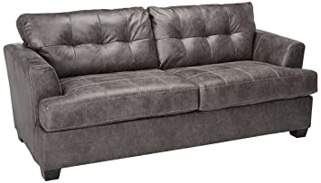 Amazing Benchcraft Inmon Contemporary Upholstered Sofa Charcoal Ocoug Best Dining Table And Chair Ideas Images Ocougorg