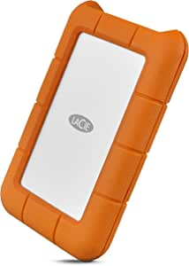 LaCie 4126514 Rugged USB-C 3.1 Portable External Hard Drive, 5TB, New Packaging