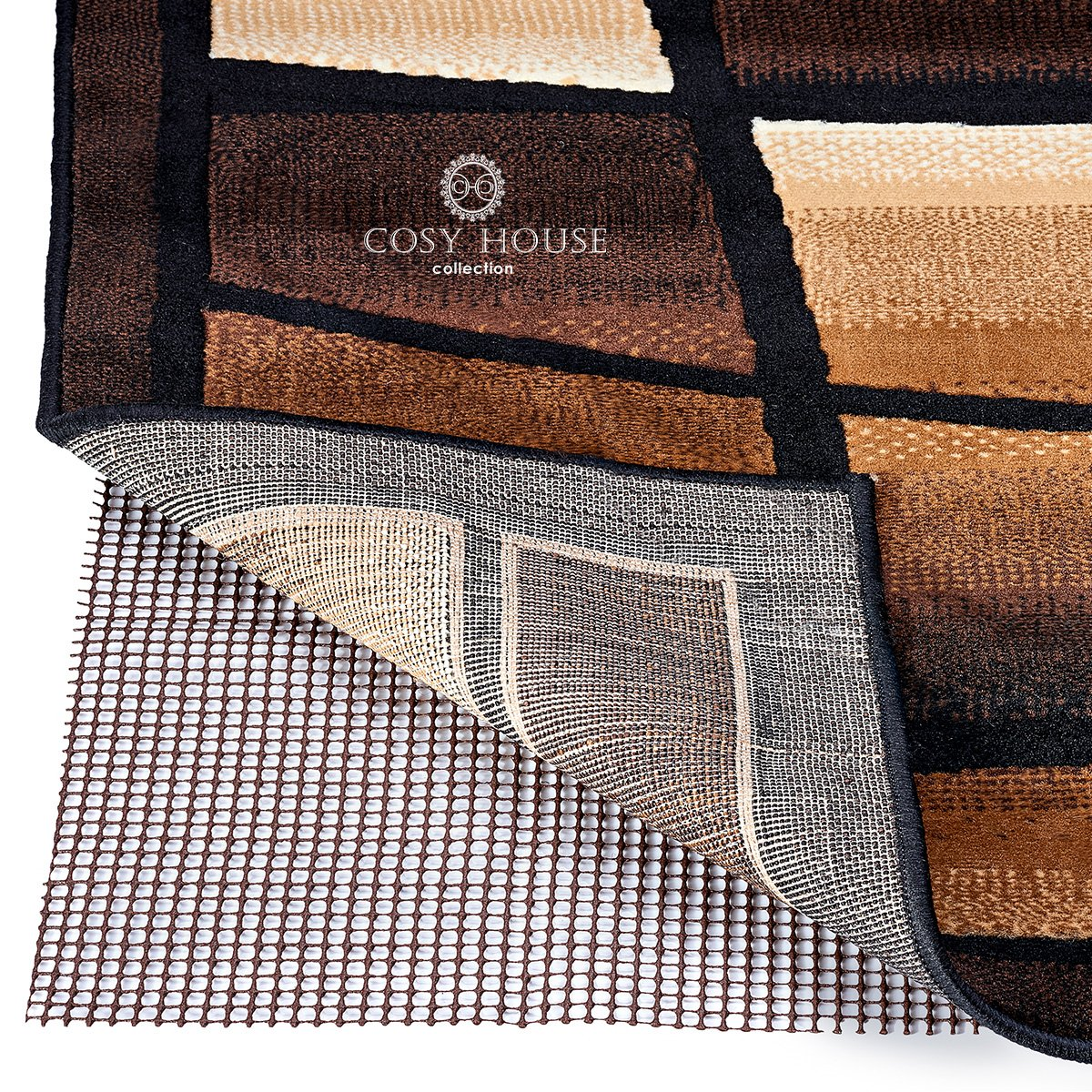 Thick Rug Gripper for Firm Hold on Oriental 5/' x 7/' Tile or Cement 5 x 7 Fully Washable Wood Tile or Cement Cosy House Collection Non Slip Area Rug Pad Traditional or Contemporary Rugs /& Door Mats for any Hard Surface Floors