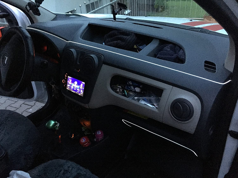 2m EL Neon Wire 12VAmbiente Effekt Kabel Licht Leucht Schnur Draht ...