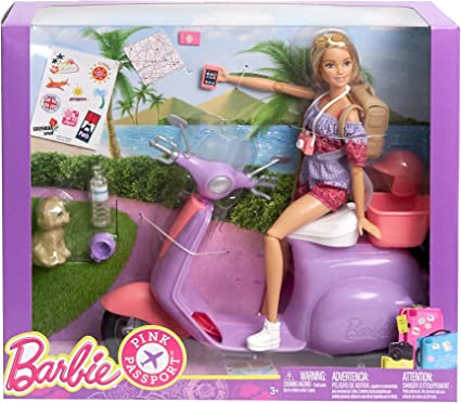 Barbie Scooter-Mattel doll