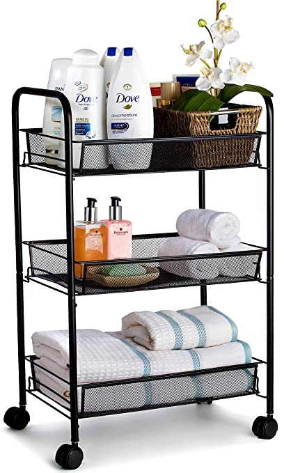 Metal Rolling Cart   These Utility Carts Are Useful For Kitchen Pantry Food  Storage, Bathroom