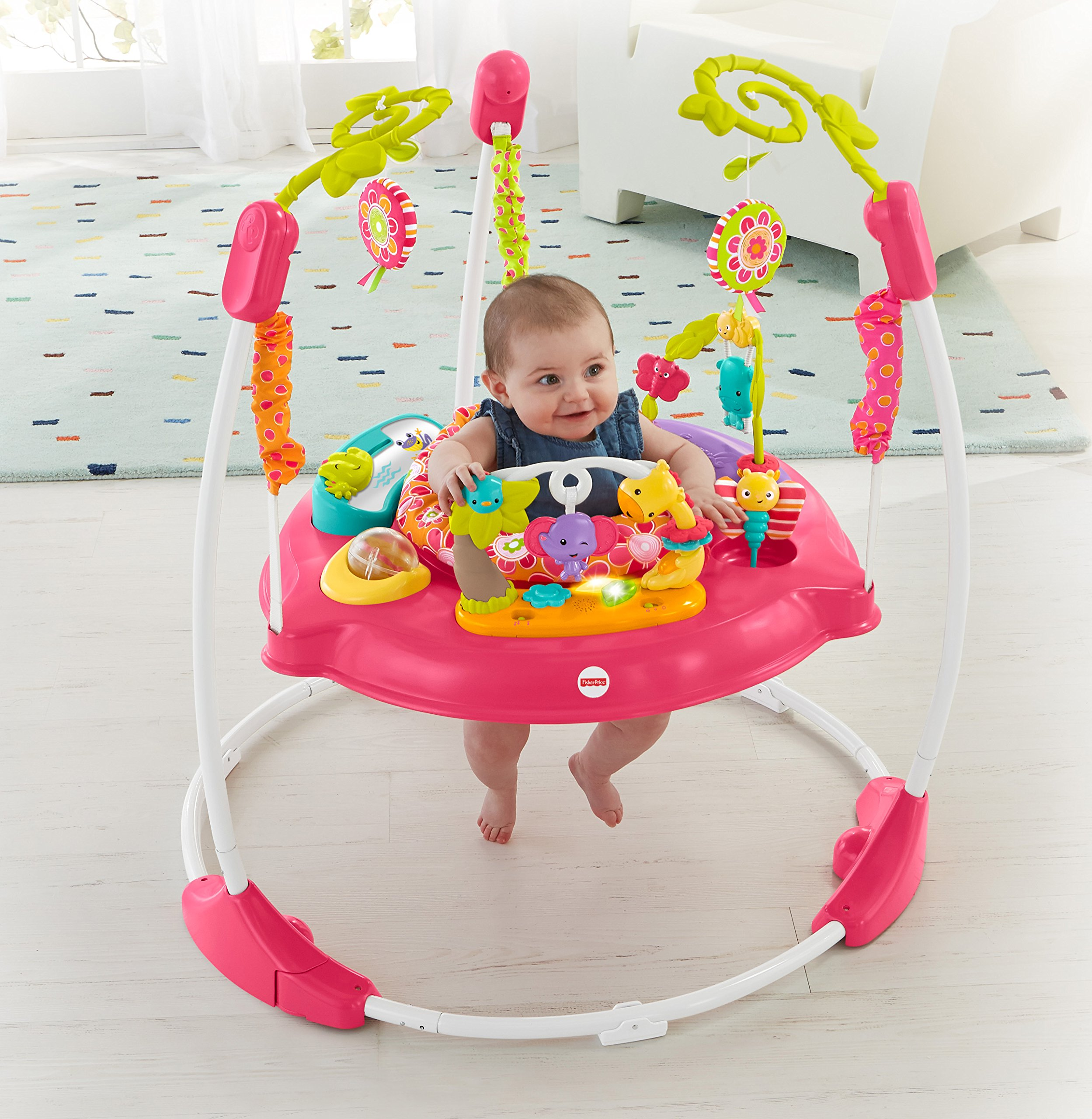Fisher Price Jumperoo Baby Girl Jumper Bouncer Activity