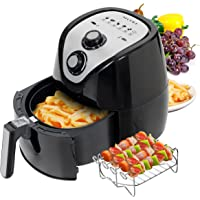 Secura Electric Hot Air Fryer Extra Large Capacity Air Fryer and additional accessories; Recipes and skewers accessory set