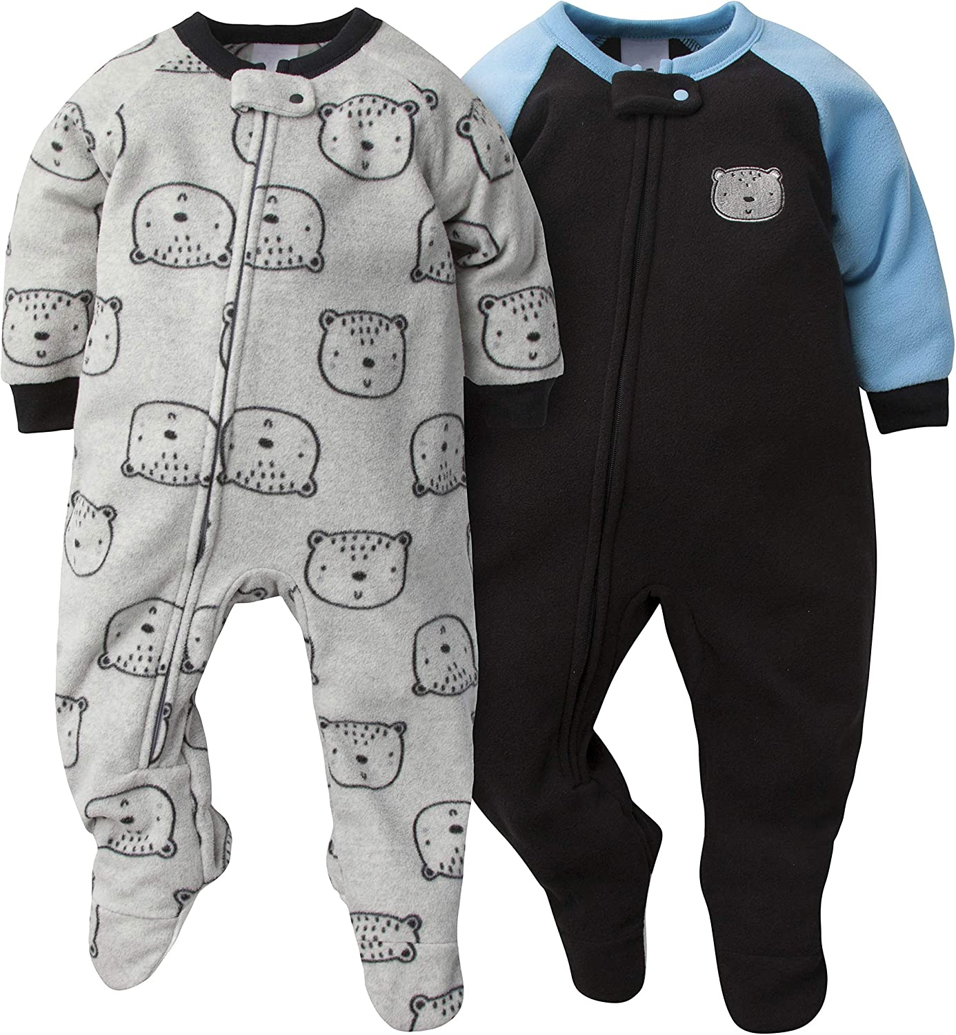 Gerber Baby-Boys 2-Pack Blanket Sleeper Infant-and-Toddler-Nightgowns