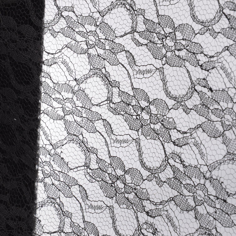 Black, 6 in Advantez 6 x 24 Yards Wedding Cream Floral Lace Roll Fabric Table Runner Chair Sash Bow DIY Wedding Party Art Craft Decor