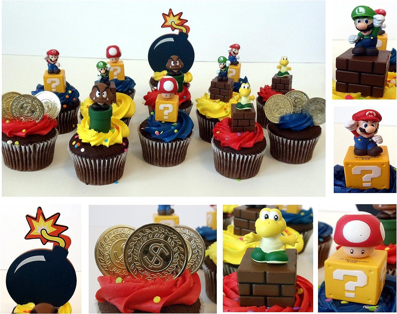 Amazon Com Nintendo Mario Brothers Game Scene 14 Piece Birthday