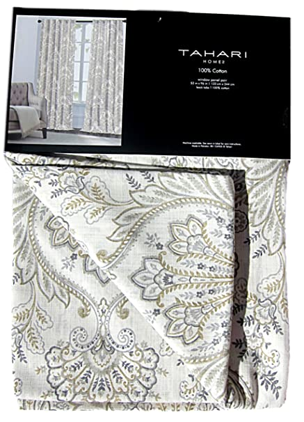 Tahari Home Sienna Paisley Window Panels 52 By 96 Inch Set Of 2 Floral  Lattice