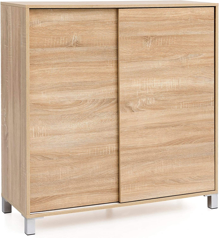 Sonoma - Zapatero de diseño alto para 20 pares de zapatos, zapatero, ahorra espacio, mueble moderno XXL, 108 x 100 x 37,5 cm