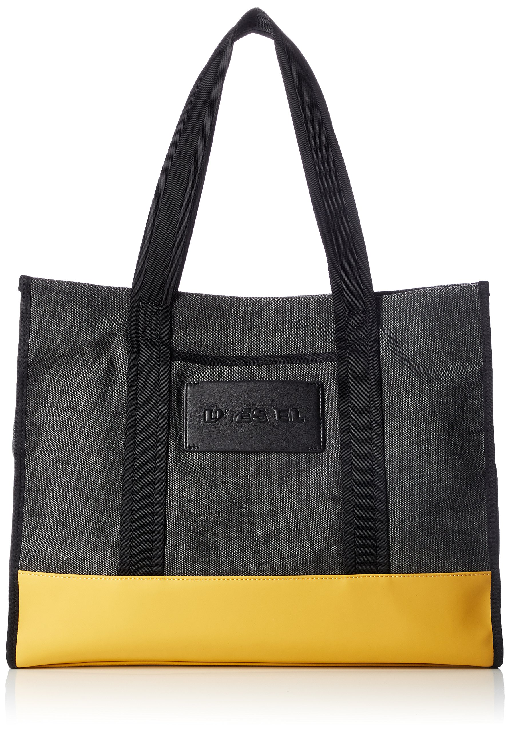 Diesel Men's M-CAGE Shopper-Shopping Bag, anthracite/golden rod One Size
