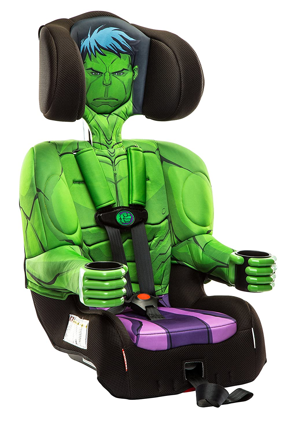 KidsEmbrace Incredible Hulk Booster Car Seat Marvel Avengers Combination 5 Point Harness