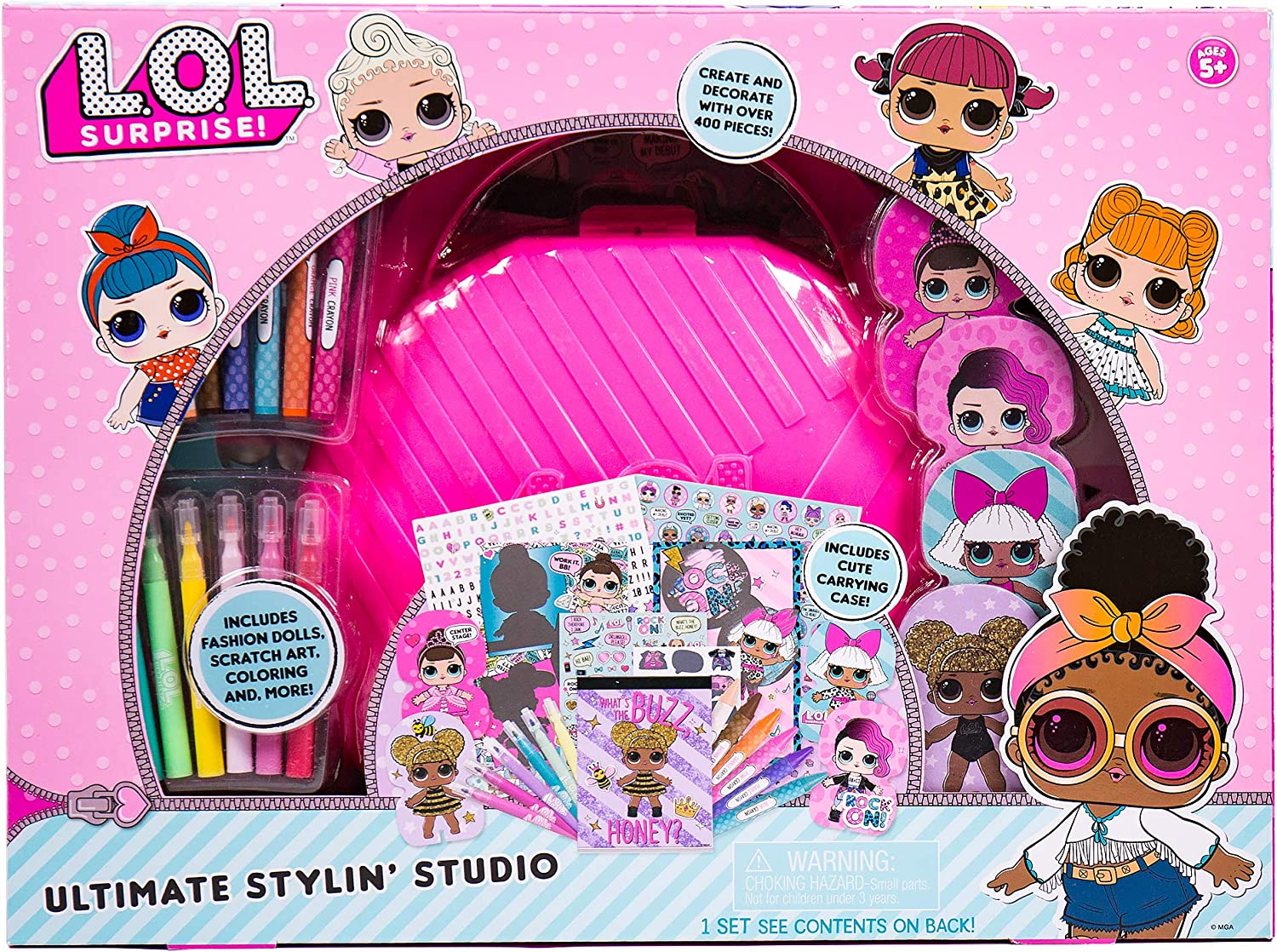 Amazon.com: L.O.L. Surprise! Kit Includes Paper Dolls, Sticker Sheets,  Scratch Art Sticker & Sheets, Sketchbook,Crayons,Mini Markers & More, Model  Number: 90147: Toys & Games