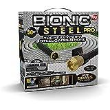 Bionic Steel 2428 PRO Hose-304 Stainless Steel Metal 50 Foot Garden Hose – Heavy Duty Lightweight, Kink-Free and…