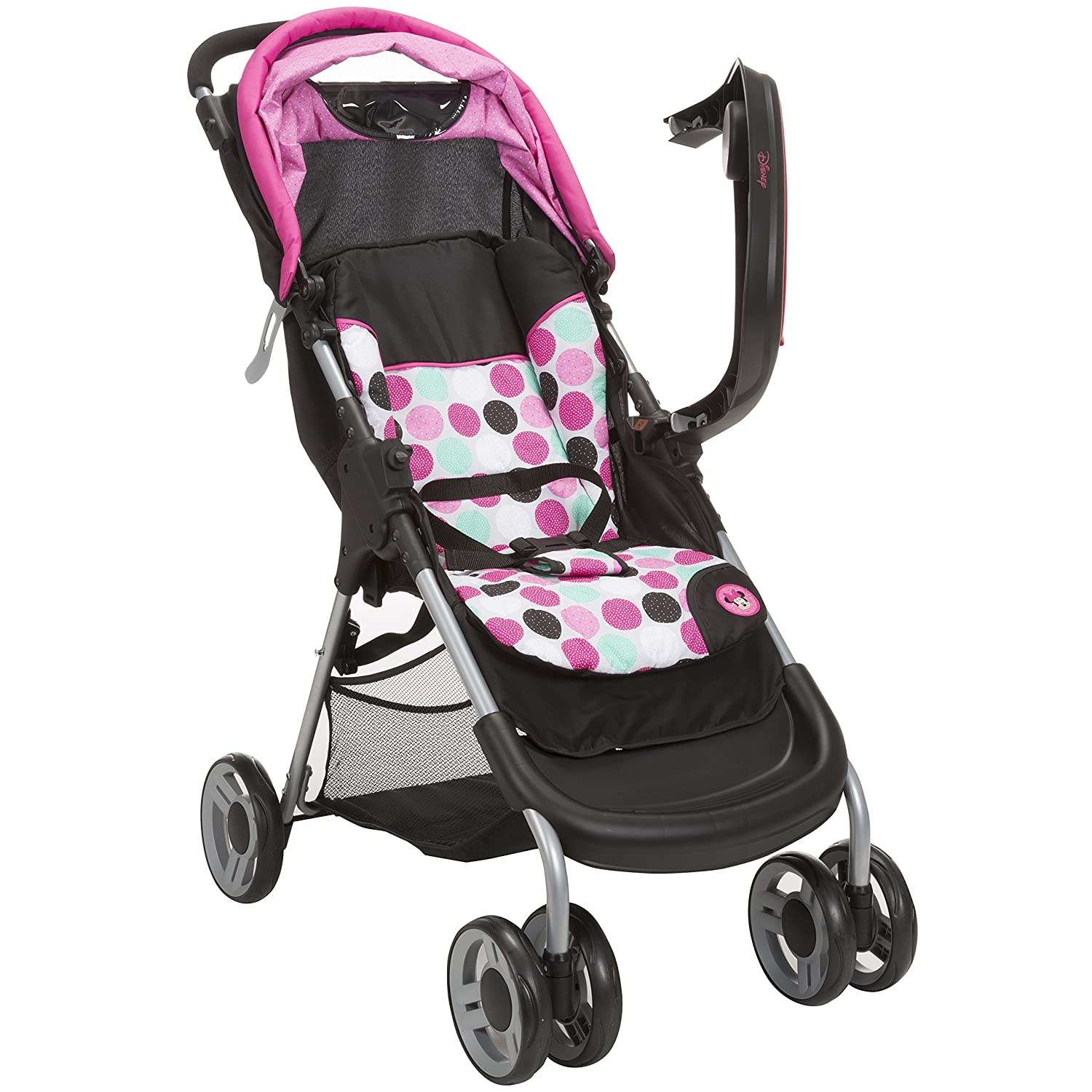 Disney Baby Minnie Mouse Lift Stroll Plus Travel System With Light N Comfy Infant Car