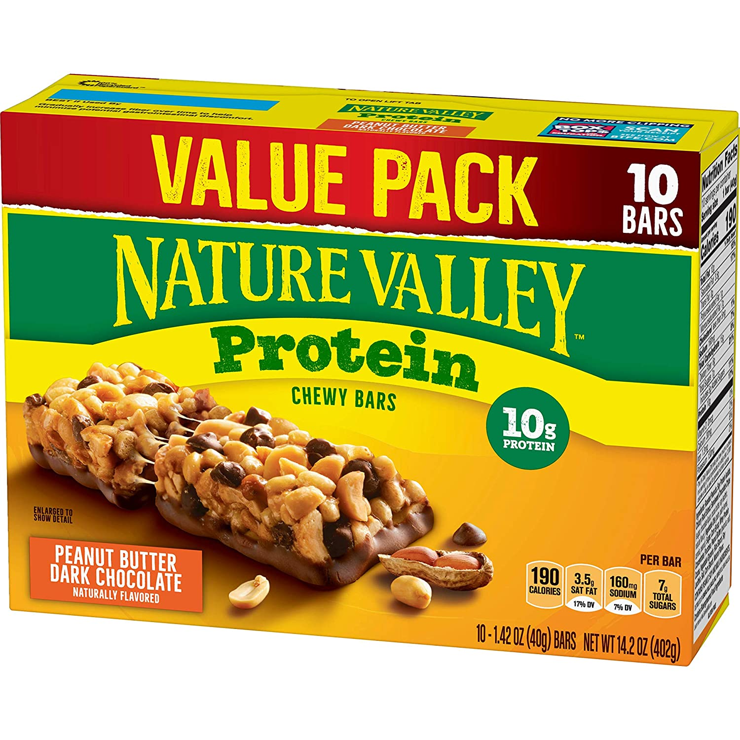 Nature Valley Chewy Granola Bars, Protein, Peanut Butter Dark Chocolate, 14.2 oz