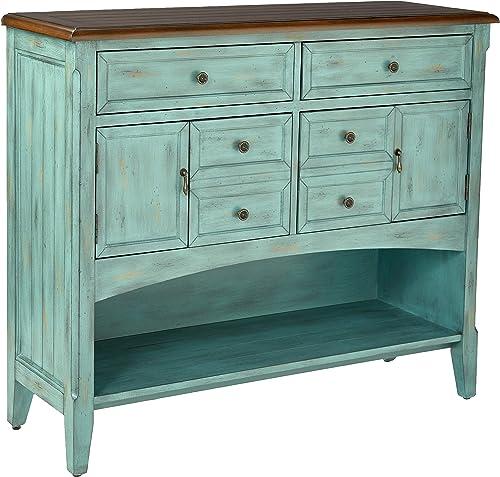 Stein World Furniture Hartford Buffet Server, Distressed Moonstone Antique Blue Wood Tone