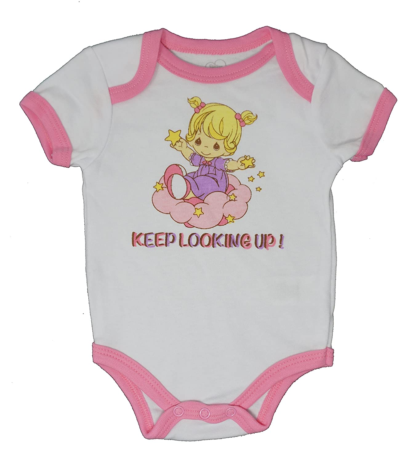 Precious Moments Keep Looking up! Funny Baby Girl One Piece Novelty Bodysuit