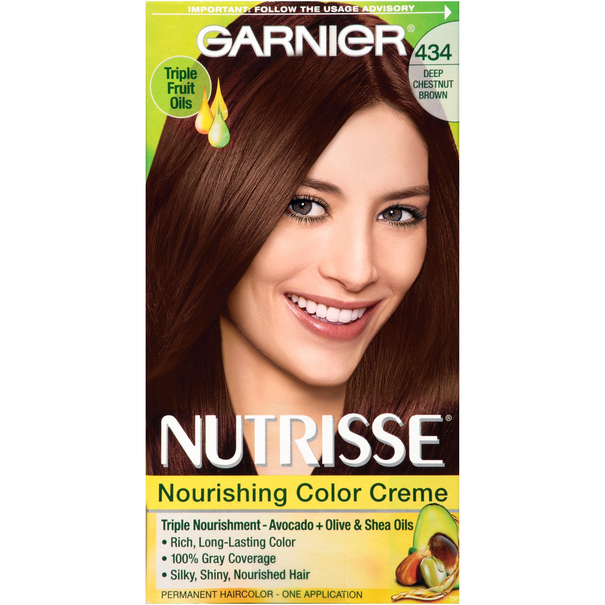 Amazon.com: Garnier Nutrisse Nourishing Hair Color Creme, 50 Medium Natural Brown Truffle