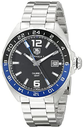4ba55987ac5de Image Unavailable. Image not available for. Color  TAG Heuer Men s  WAZ211A.BA0875 Formula 1 Analog Display Swiss Automatic Silver Watch