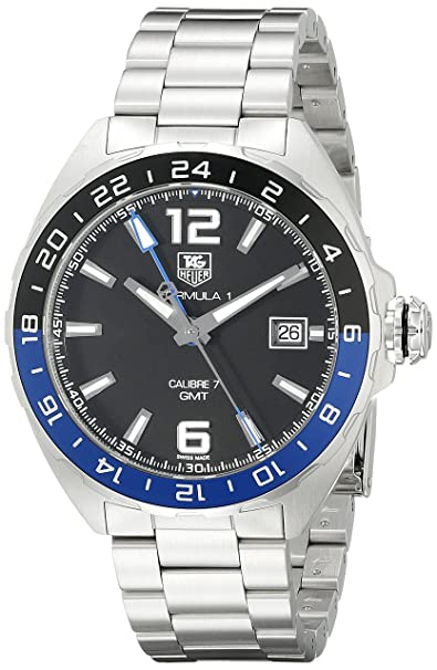 190c9b7adfc6d Amazon.com  TAG Heuer Men s WAZ211A.BA0875 Formula 1 Analog Display Swiss  Automatic Silver Watch  Tag Heuer  Watches