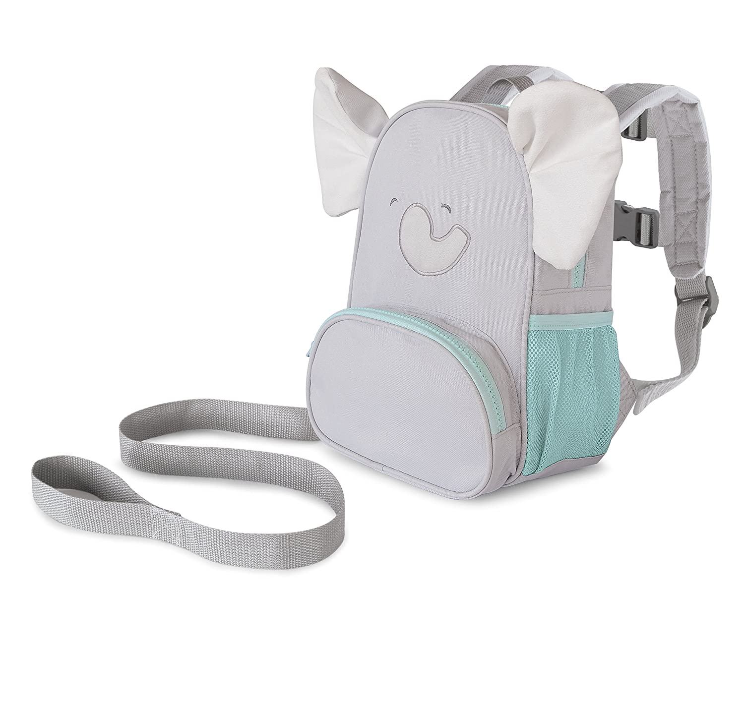 Carter's Toddler Safety Harness, Animal Elephant Backpack, Grey/Turquoise Goldbug CR03712-1SZ-AMZ