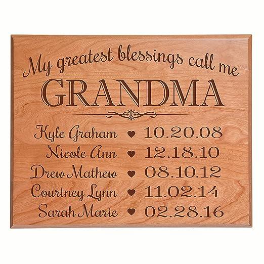 Gran abuela regalos cumpleaños Ideas con nombres de niños ...