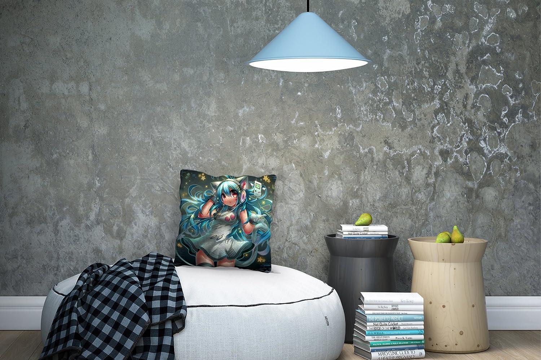Parfaite D/écoration pour Un Int/érieur Sublime Coussin Imprim/é de Qualit/é Sup/érieure Gallery of Innovative Art Coussin D/écoratif avec Remplissage 40x40cm Solar Music Collection Anime