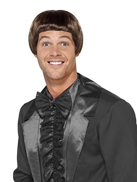 Amazon Smiffys Mens 90s Brown Bowl Cut Wig One Size 43678