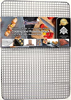 Kitchenatics Professional Grade Stainless Steel Cooling And Roasting Wire Rack Fits Half Sheet Baking Pan For