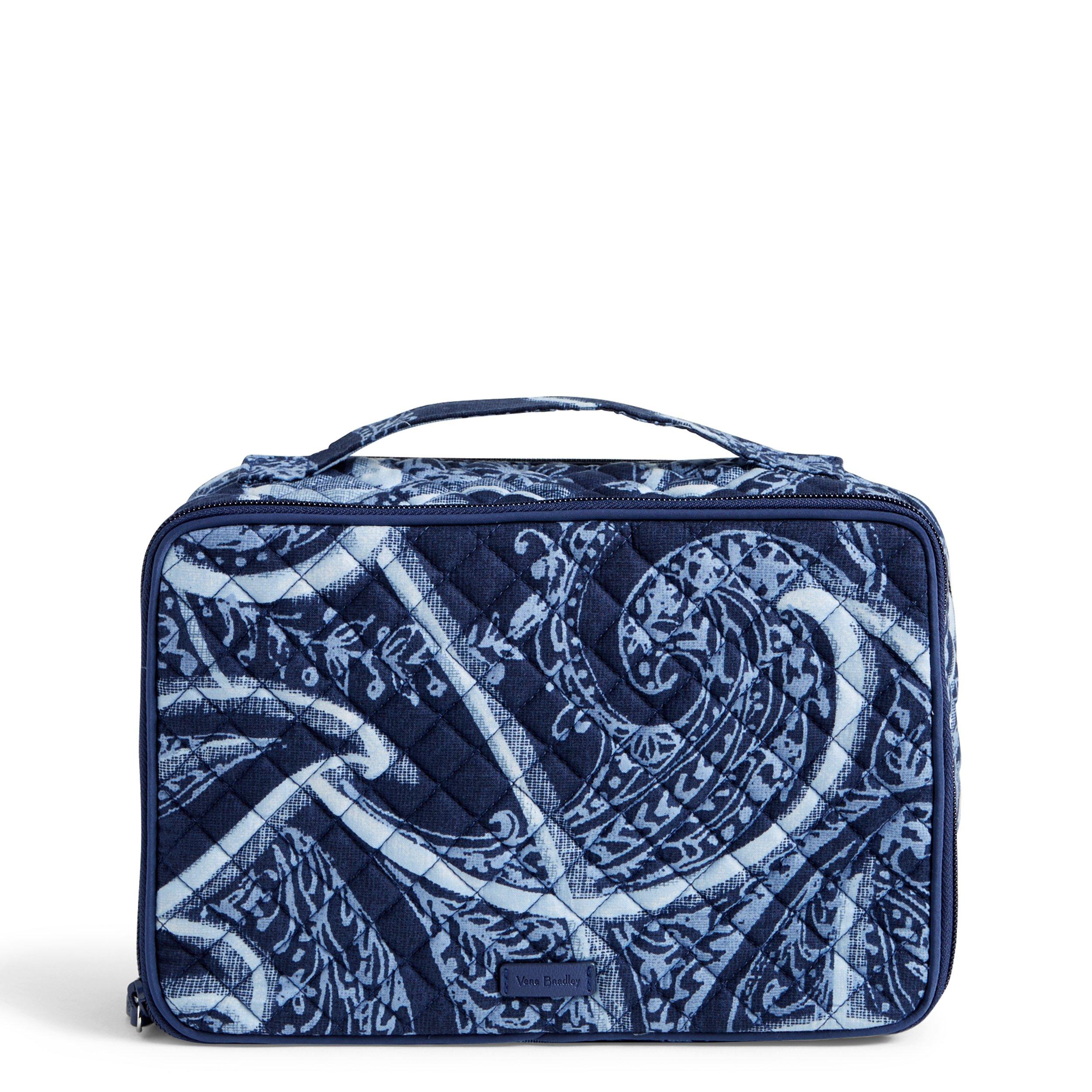 Vera Bradley Iconic Large Blush and Brush Case, Signature Cotton, Indio
