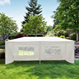 Outsunny – Gazebo Multifunzionale per Eventi Tendone da Esterno Impermeabile con Pannelli Rimovibili, in Acciaio, PE Bianco, 3 x 6 m