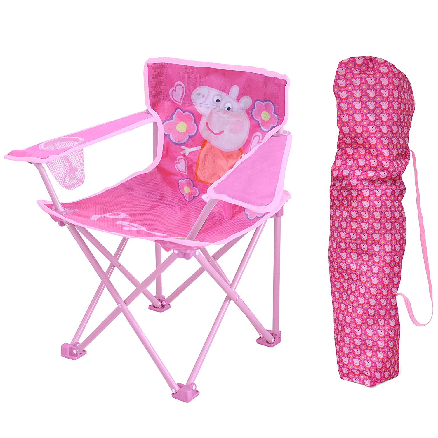 amazon com peppa pig kids camp chair toys games