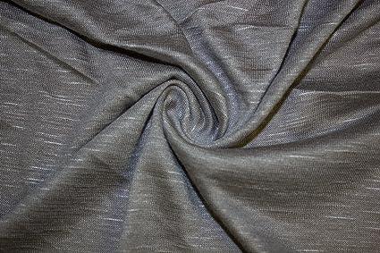 e7a3bccb4dd Jersey Knit Solid Slub 2-Way Stretch 97% Rayon 3% Spandex Lycra Soft Fabric  By The Yard (Gray)