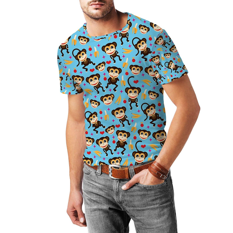 Monkeys Go Bananas Mens Sport Mesh T-Shirt