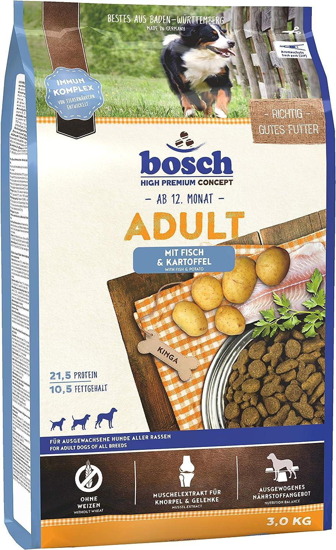 bosch HPC Adult   con Pescado y Patata   Comida seca completa para perros adultos de todas las razas   3 kg
