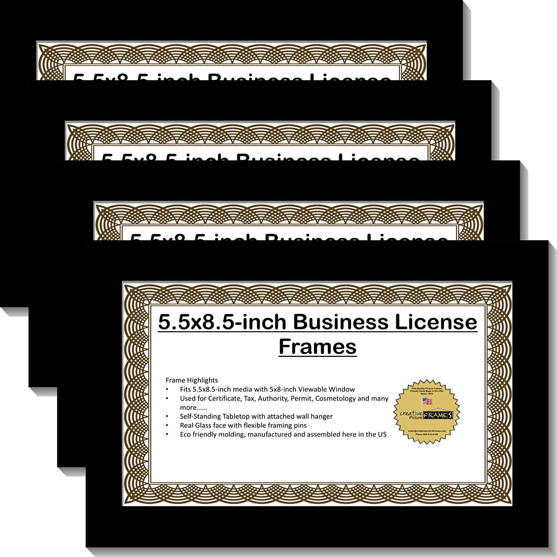 creativepf [5,5 x 8.5bk] Business Lizenz Rahmen mit selbst stehend ...