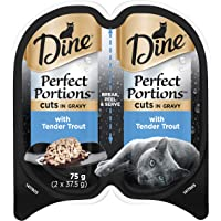DINE Perfect Portions Wet Cat Food Trout in Gravy 75g, Adult, 24 Pack, One Size