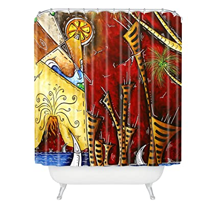 Amazon Deny Designs Madart A Slice Of Paradise Shower Curtain