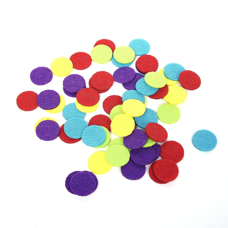 Modern Bethel Pack of 1000 Mini Felt Shapes 1 Inch Multicolored Circle Felt for DIY Decoration